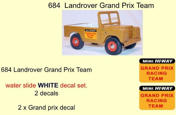 684 Tri-ang Landrover Grand Prix Team